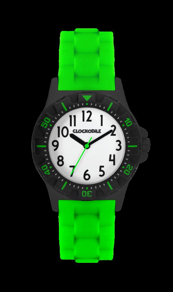Svítící neonově zelené sportovní chlapecké hodinky CLOCKODILE SPORT 2.0 CWB0028 (chlapecké sportovní hodinky se svítícím luminiscenčním číselníkem)