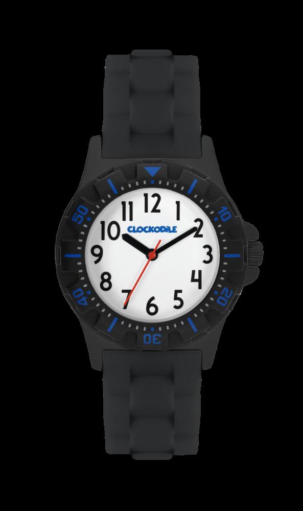 Svítící černé sportovní chlapecké hodinky CLOCKODILE SPORT 2.0 CWB0029 (chlapecké sportovní hodinky se svítícím luminiscenčním číselníkem)