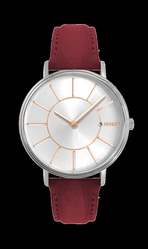2cc49cdd9af Vínovo-růžové dámské hodinky MINET BROADWAY BORDEAUX PINK MWL5038 (POŠTOVNÉ  ZDARMA!! )