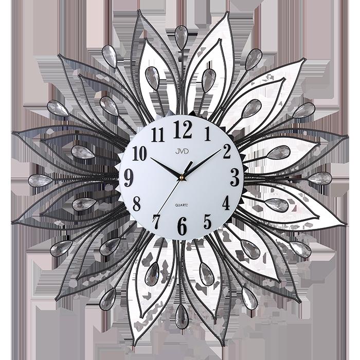 Paprskovité kovové skleněné designové hodiny JVD HJ84 (POŠTOVNÉ ZDARMA!!)