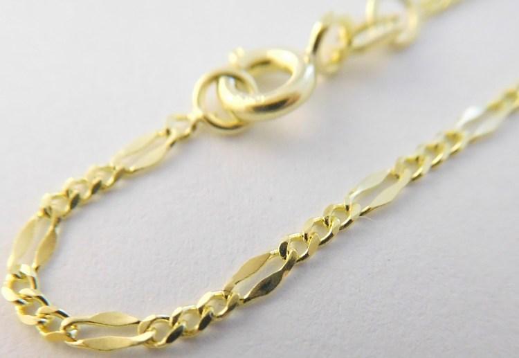 Dámský silný pevný zlatý řetízek (KÁVOVÉ ZRNO) 585/2,40gr 50cm 2840022