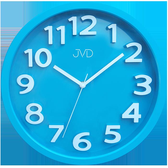 Modré čitelné netikající tiché dětské hodiny JVD HA48.4