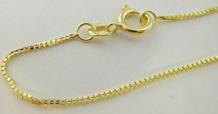 Dámský dlouhý zlatý řetízek na přívěsek (Benátský) 50cm 585/1,65gr 3640112