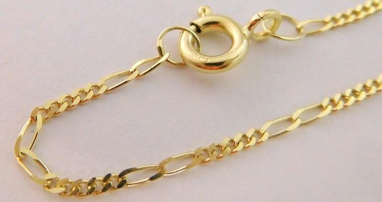3c6bba1e3 Zlatý pevný řetízek ze žlutého zlata FIGARO 585/1,97gr 55cm 3040022 ...