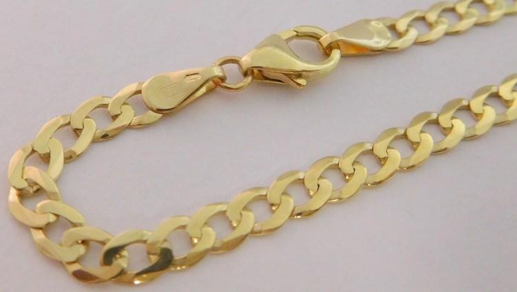 9da280c58 Pánský mohutný plný zlatý náramek PANCER 22cm šíře 3,5mm 585/2,97gr