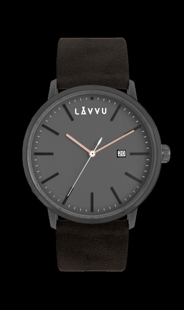 Černé pánské hodinky LAVVU COPENHAGEN RAVEN BLACK LWM0054 (POŠTOVNÉ ZDARMA!!!)