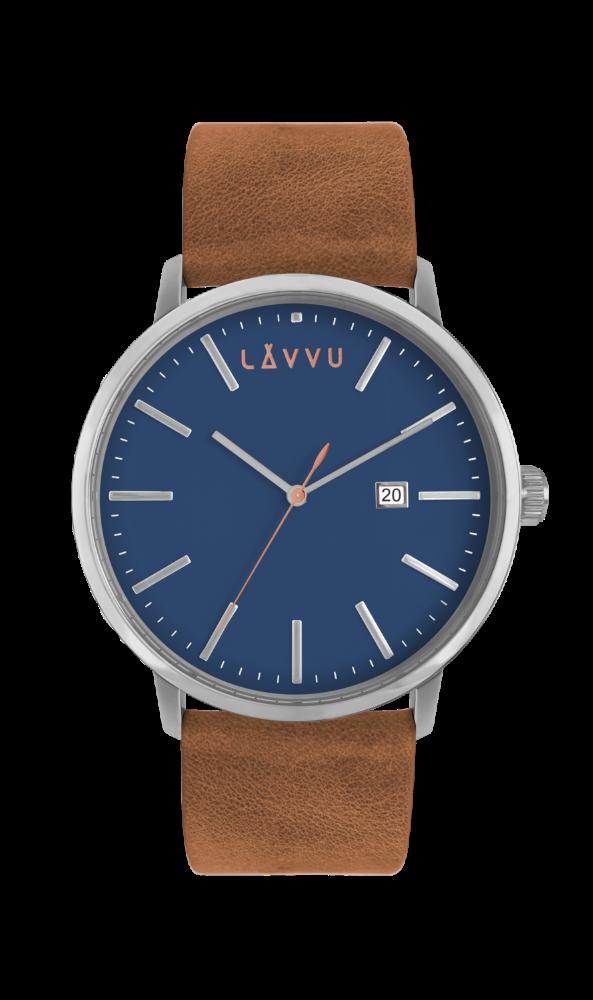 Modro-hnědé pánské hodinky LAVVU COPENHAGEN FIRST CLASS LWM0053 (POŠTOVNÉ ZDARMA!!!)