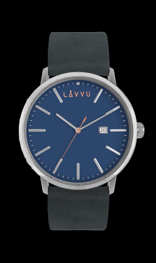 Modré pánské hodinky LAVVU COPENHAGEN DENIM BLUE LWM0052 (POŠTOVNÉ ZDARMA!!!)