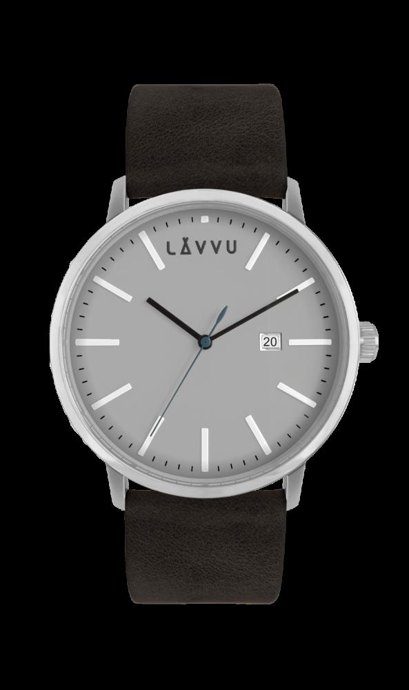 Černo-šedé pánské hodinky LAVVU COPENHAGEN STONE BLACK LWM0051 (POŠTOVNÉ ZDARMA!!!)