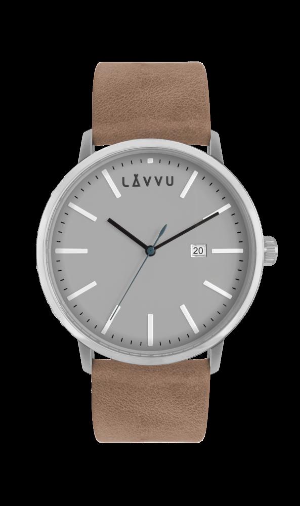 Pískově šedé pánské hodinky LAVVU COPENHAGEN COAST LWM0050 (POŠTOVNÉ ZDARMA!!!)
