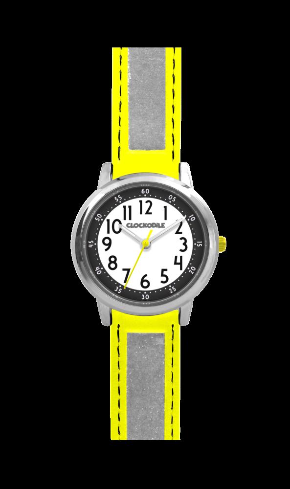 Žluté reflexní dětské hodinky CLOCKODILE REFLEX CWX0011