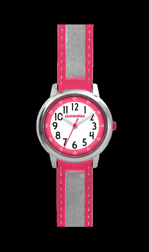 Růžové reflexní dětské hodinky CLOCKODILE REFLEX CWX0012