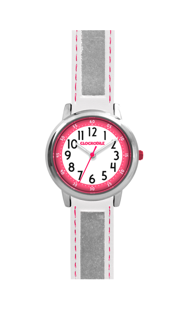 Bílé reflexní dětské hodinky CLOCKODILE REFLEX CWX0013