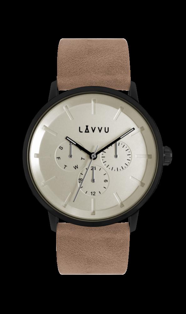 Pískově šedé multifunkční hodinky LAVVU TROMSØ SAND GREY LWM0060 (POŠTOVNÉ ZDARMA!!!)