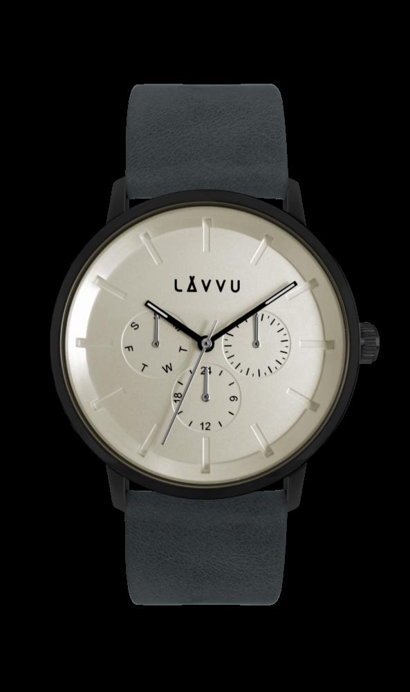 Tmavě modré multifunkční hodinky LAVVU TROMSØ INDIGO BLUE LWM0061 (POŠTOVNÉ ZDARMA!!!)