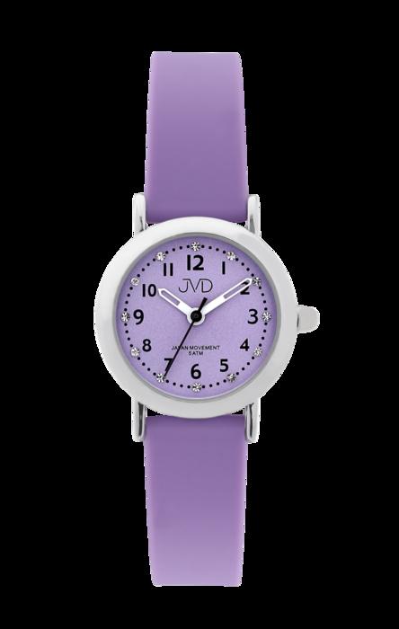 Dívčí dětské náramkové hodinky JVD J7189.1 se zirkony na číselníku (dívčí dětské hodinky)