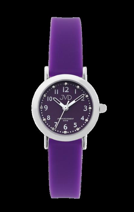 Dívčí dětské náramkové hodinky JVD J7189.3 se zirkony na číselníku (dívčí dětské hodinky)