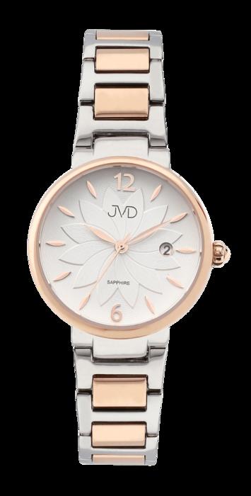 03dfe5382de Dámské náramkové květinové ocelové hodinky JVD JG1008.2 se safírovým sklem  (POŠTOVNÉ ZDARMA!