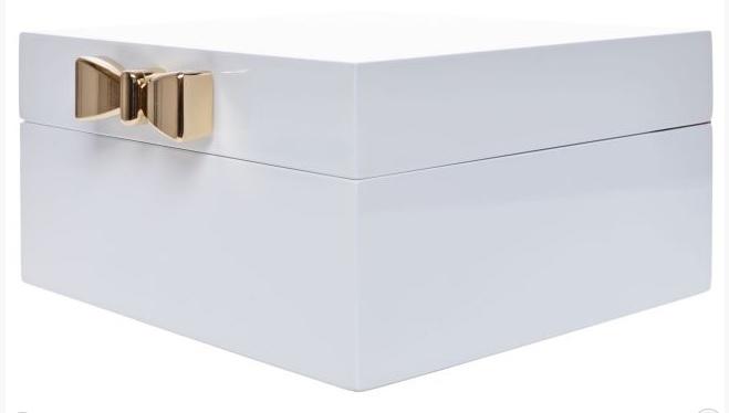 Elegantní dřevěná velká bílá lakovaná šperkovnice pro drobné šperky 33387/6663