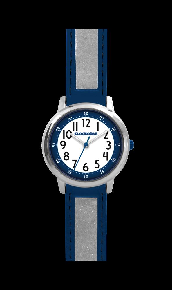 Tmavě modré reflexní dětské hodinky CLOCKODILE REFLEX CWX0014 ( DĚTSKÉ  HODINKY JAKO BEZPEČNOSTNÍ PRVEK - reflexní 6f5c5f1414