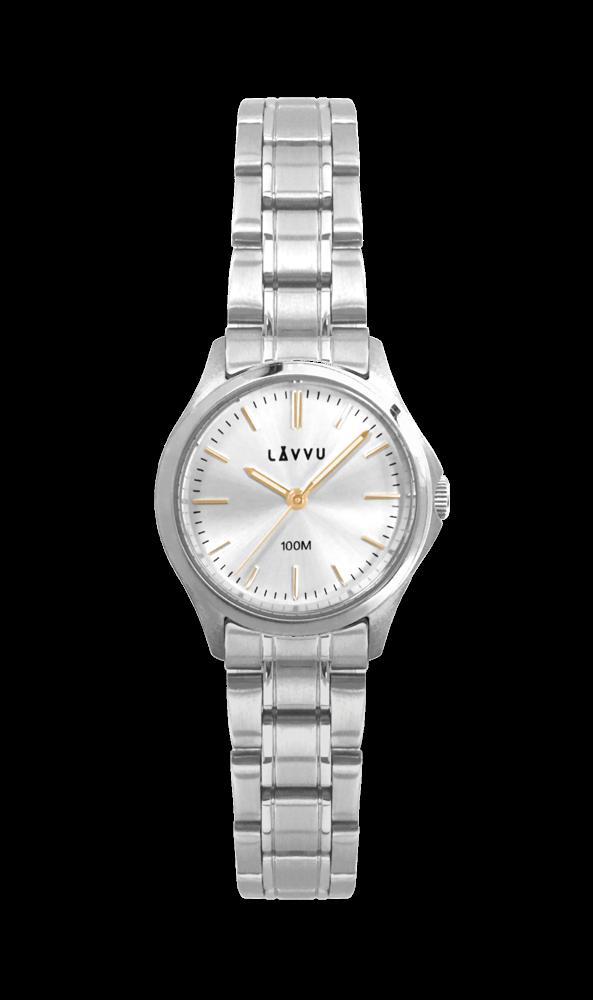 Dámské vodotěsné hodinky LAVVU ARENDAL Gold s vodotěsností 100M LWL5022  (POŠTOVNÉ ZDARMA! 2ac986491a
