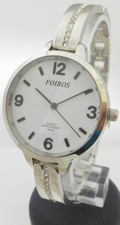 Dámské čitelné šperkové stříbrné hodinky Foibos 3374 s velkým přehledným  číselníkem (POŠTOVNÉ ZDARMA! 114d2f3565