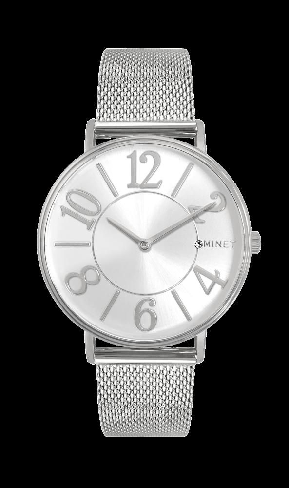 Stříbrné dámské hodinky MINET PARIS Silver Mesh MWL5050 (POŠTOVNÉ ZDARMA!! ) eadf4de1f2