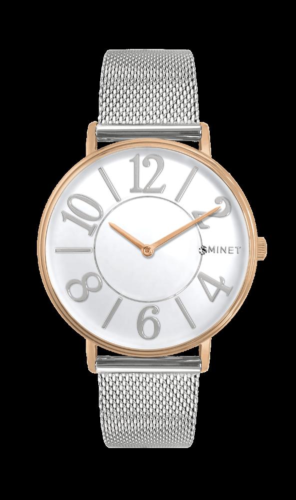 Rose gold dámské hodinky MINET PARIS Semi Rose Gold Mesh MWL5052 (POŠTOVNÉ  ZDARMA! 5203c659cb1
