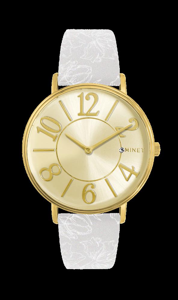 Bílo-zlaté dámské hodinky MINET PARIS Royale MWL5053 (POŠTOVNÉ ZDARMA!! ) 833ce0cca12