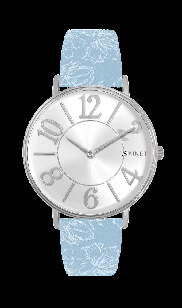Světle modré dámské hodinky MINET PARIS Cité MWL5055 (POŠTOVNÉ ZDARMA!! ) f07b7870c50
