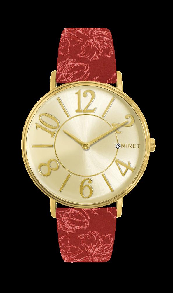 d3d5a8c8ba Červeno-zlaté dámské hodinky MINET PARIS Cabaret MWL5056 (POŠTOVNÉ ZDARMA!!  )