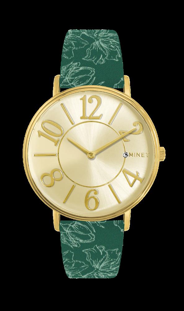 5554d0ccd Zeleno-zlaté dámské hodinky MINET PARIS Boutique MWL5057 (POŠTOVNÉ ZDARMA!!  )