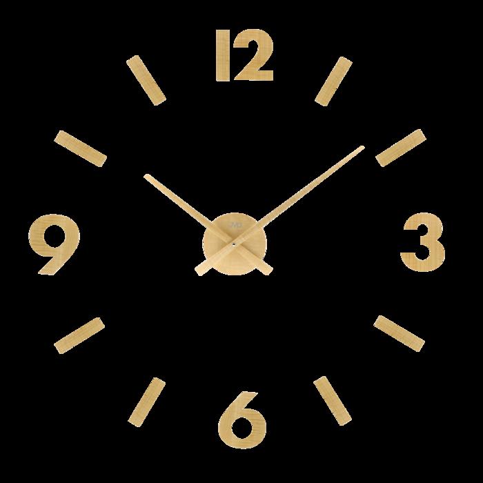 Designové nástěnné dřevěné nalepovací hodiny JVD HC31.1 - světlé dřevo