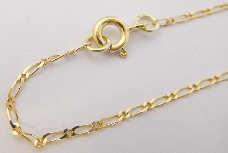 a3a3bea83 Pánský pevný zlatý přívěskový řetízek ze žlutého zlata FIGARO 1+1 585/1,92gr  55cm 3040017