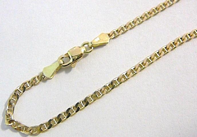 Luxusní mohutný dámský/pánský zlatý náramek 585/1,61gr 19,5cm H101
