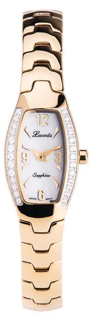 Zlacené dámské náramkové hodinky LACERTA 751M4605