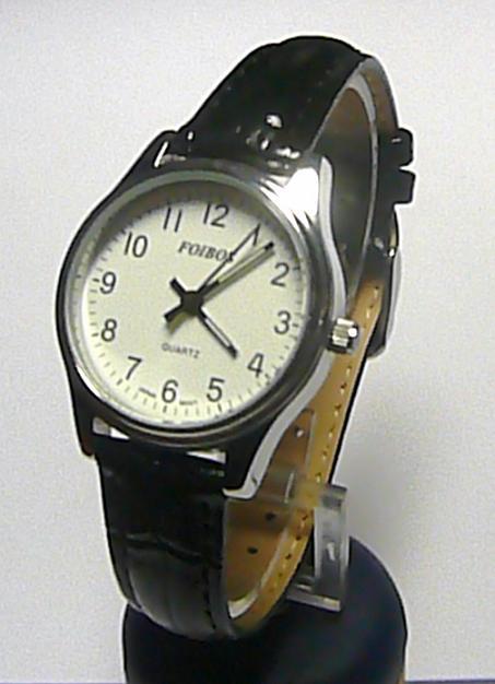 Dámské společenské ocelové hodinky Foibos 2637 na kůži