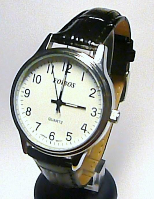 Pánské luxusní ocelové hodinky Foibos 2637g na kůži