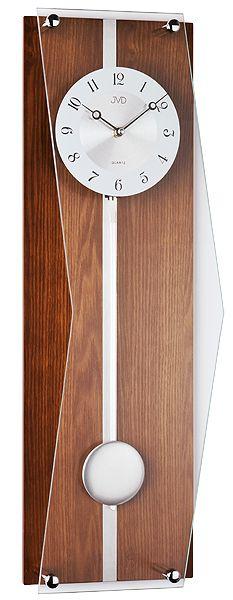 Moderní dřevěné kyvadlové nástěnné hodiny JVD quartz N12002.11
