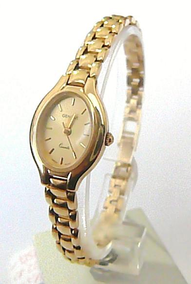 362bc55b9a Luxusní dámské zlaté švýcarské hodinky GENEVE 585 22