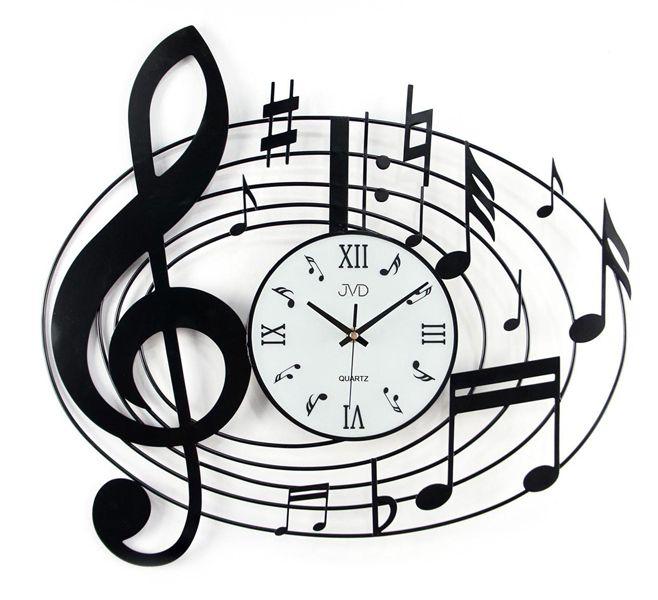 Kovové nástěnné designové hodiny JVD HJ03 pro hudebníky (POŠTOVNÉ ZDARMA!!)