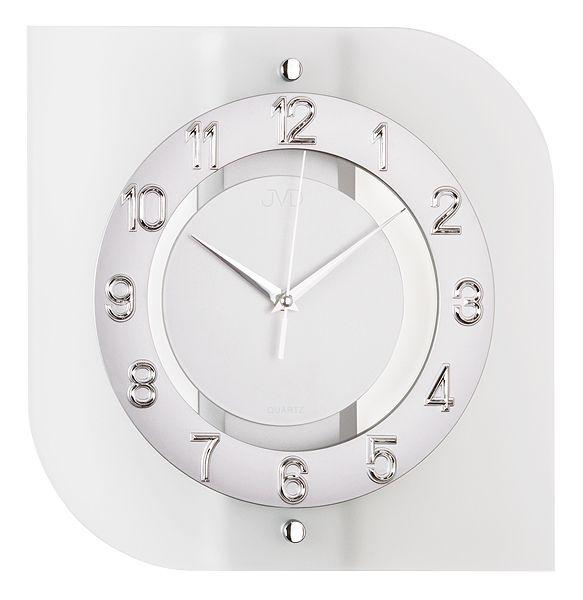 Skleněné moderní nástěnné hodiny JVD quartz N29038