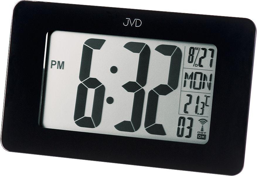 Černé moderní digitální hodiny JVD RH18 na zeď nebo stolní