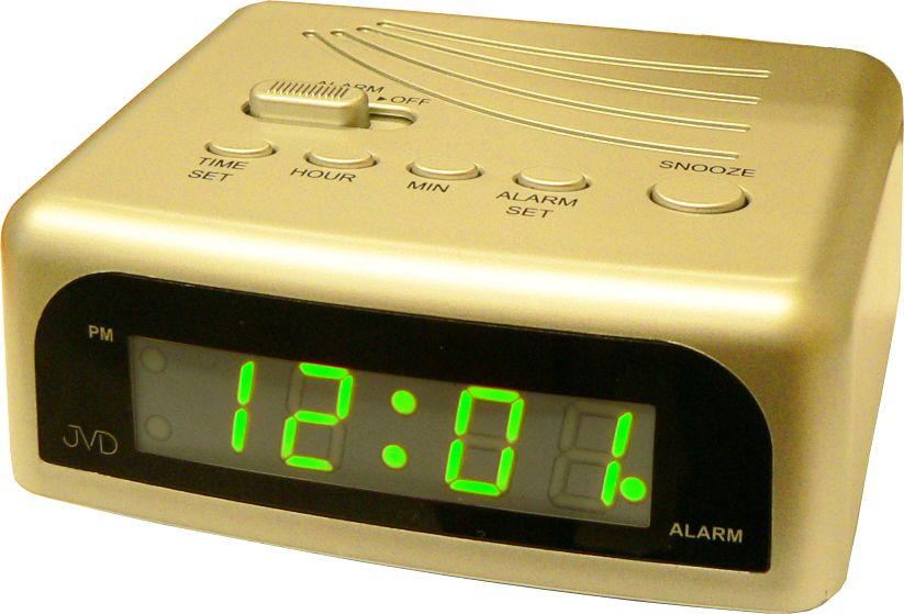 Svítící zlatý moderní digitální budík JVD SB601.2