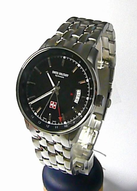 Švýcarské moderní kovové vodotěsné hodinky Swiss Military by Grovana 7013.1237