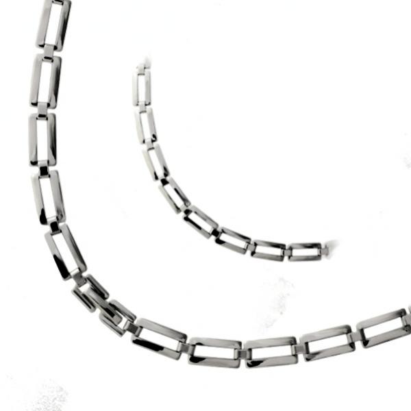 Moderní ocelový řetízek z chirurgické oceli 50cm - 315332
