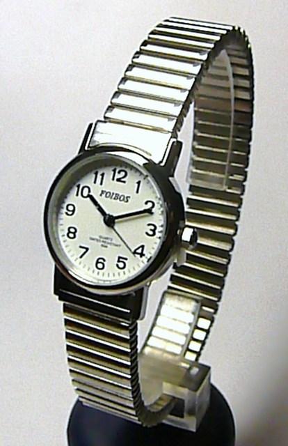 Stříbrné moderní natahovací dámské hodinky Foibos 7432LS