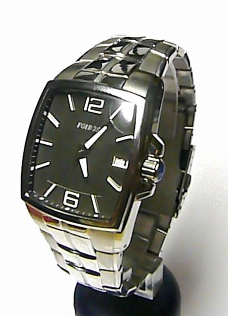 Mohutné ocelové hranaté pánské hodinky Foibos 1H88