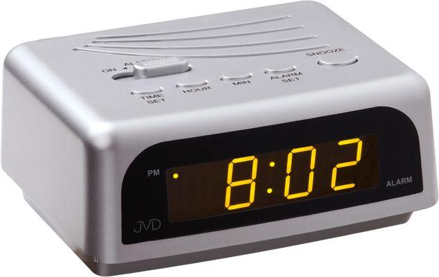 Stříbrný svítící digitální budík JVD SB601.3