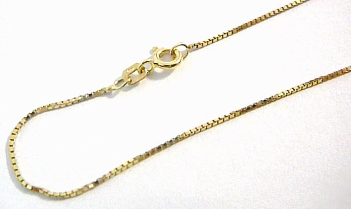 Pevný silný kostičkovaný zlatý řetízek (k přívěšku) 55cm 585/1,95gr H564